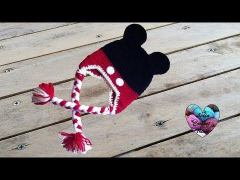 Bonnet Mickey Mouse crochet facile/ Mickey Mouse beanie crochet ...