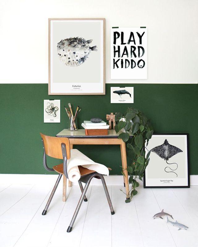 Composición cuadros pared : via La Garbatella | Wood Home ...