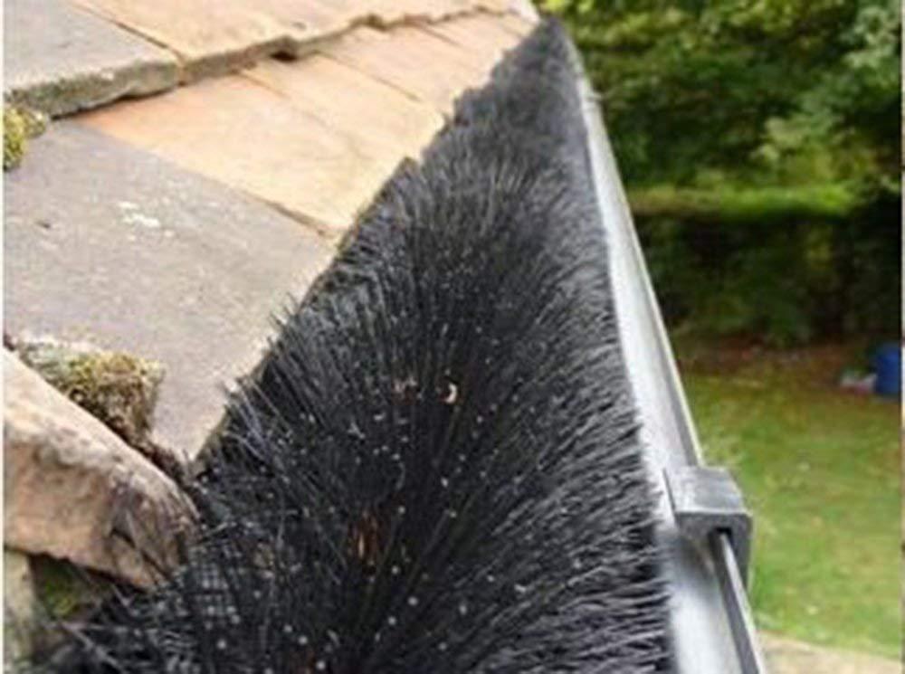 Genuine Hedgehog Gutter Brush Leaf Guard System Stainless