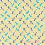 Alyssa Thomas Here Kitty Kitty Geometric Butter ORGANIC [CW-Y1415-59] - $10.95 : Pink Chalk Fabrics is your online source for modern quilting cottons and sewing patterns., Cloth, Pattern + Tool for Modern Sewists