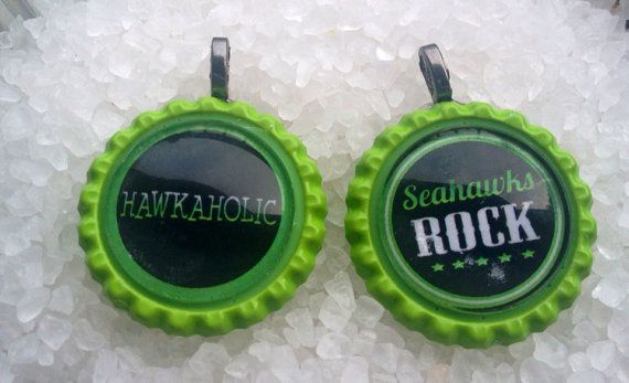 Seahawks Hawkaholic And Seahawks Rock Bottlecap by Sassyloves