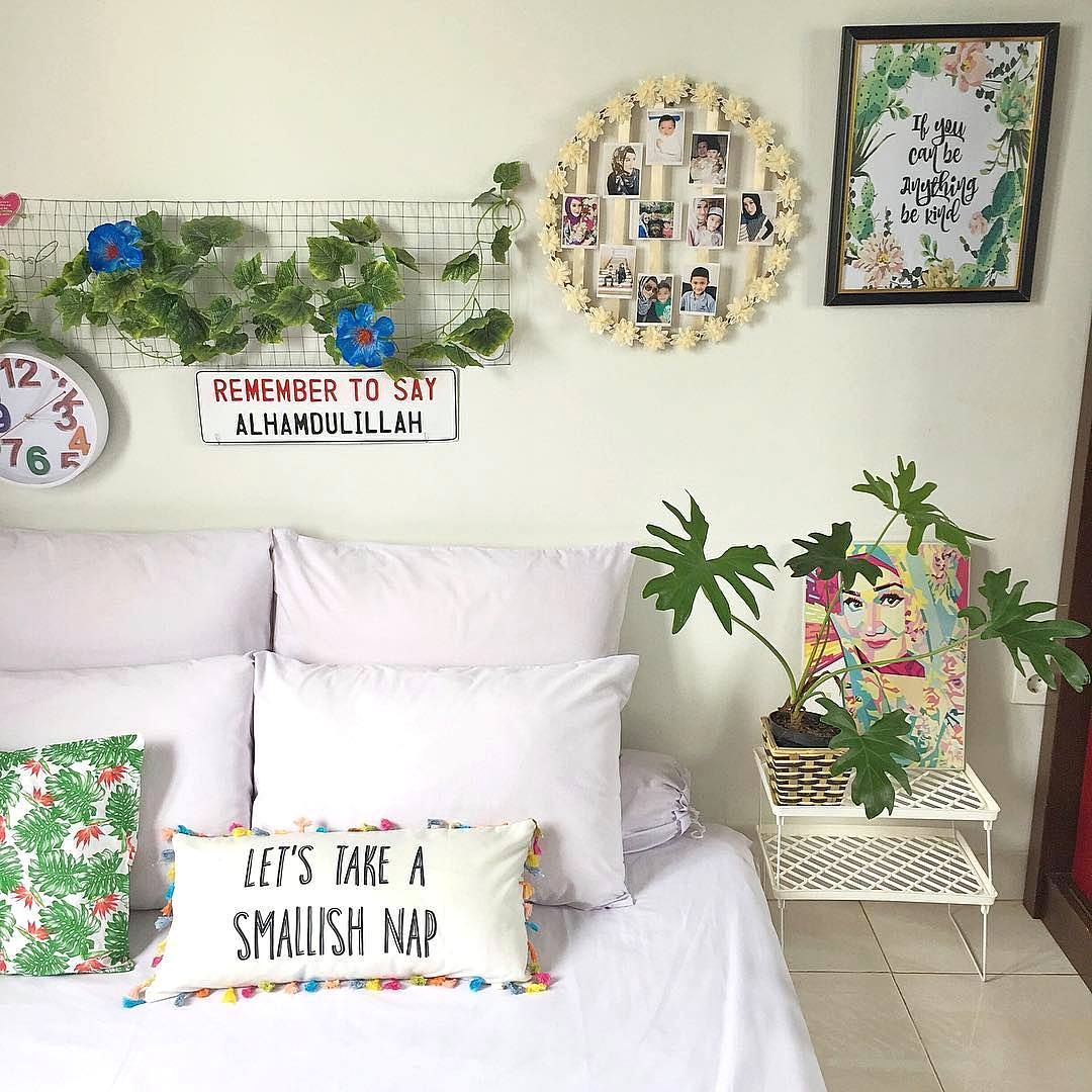 Dekorasi Dinding Kamar Tidur Minimalis 3x3 Simple Keren Dekorasi