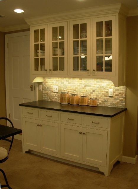 Image result for farmhouse built in kitchen buffet