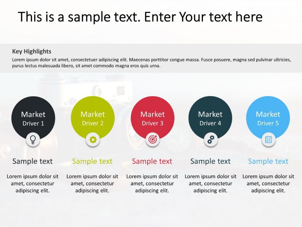 Key Market Trends Powerpoint Template 3 Powerpoint Templates Infographic Powerpoint Marketing Trends