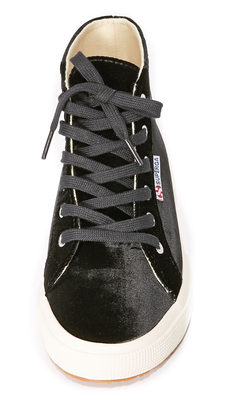 2095 Velvet High Top Sneakers