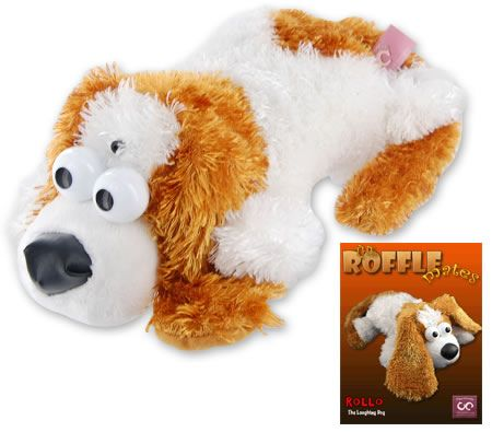 The Roffle Mates Rollo The Laughing Dog Light Activated Rolling