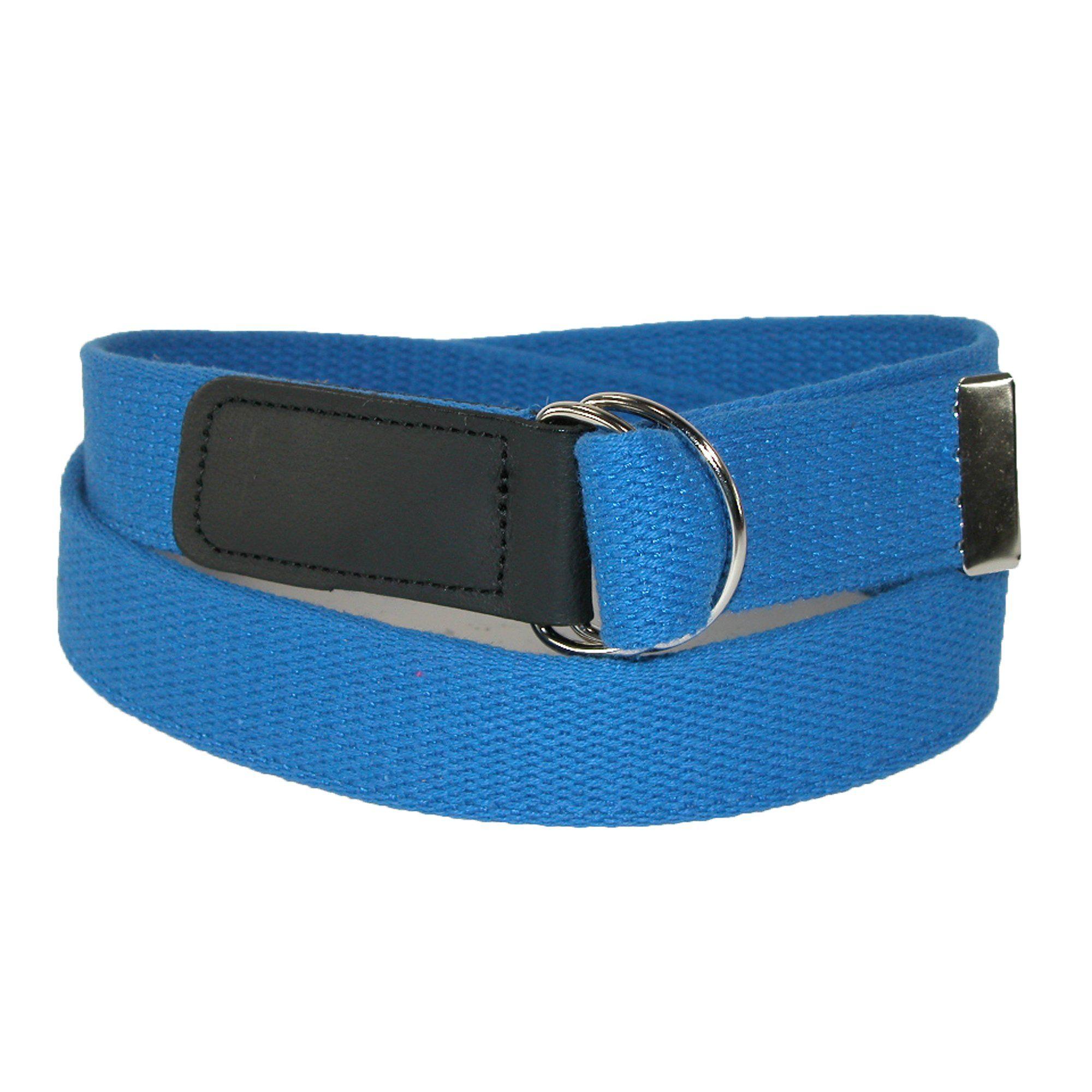 CTM® Cotton Web Belt with Double D Ring Buckle Belt