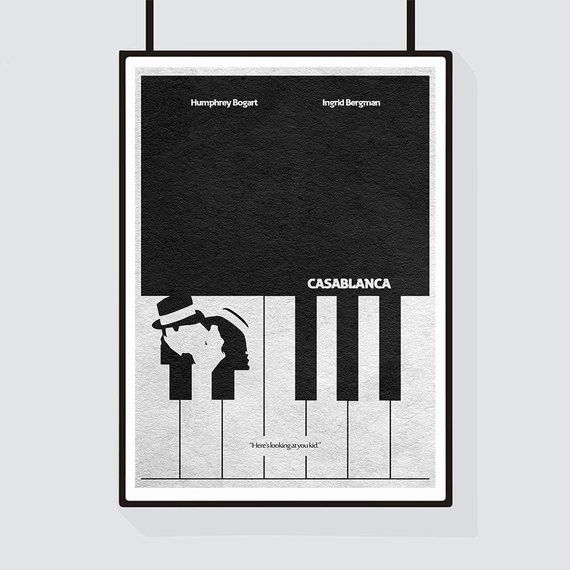 Casablanca Minimalist Alternative Movie Print & Poster