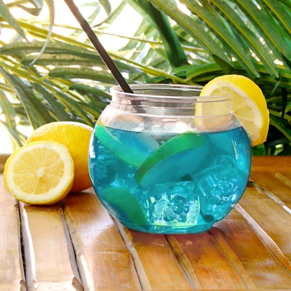 Acrylic individual cocktail fish bowl 568ml great for for Acrylic fish bowl