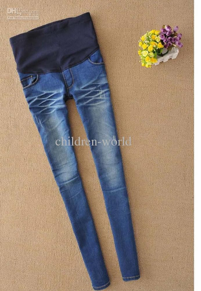 0b279291abf01 Free shipping, $21.99/Piece:buy wholesale womens maternity pregnant elastic  waistband jeans pants trousers bottoms from DHgate.com,get worldwide  delivery ...