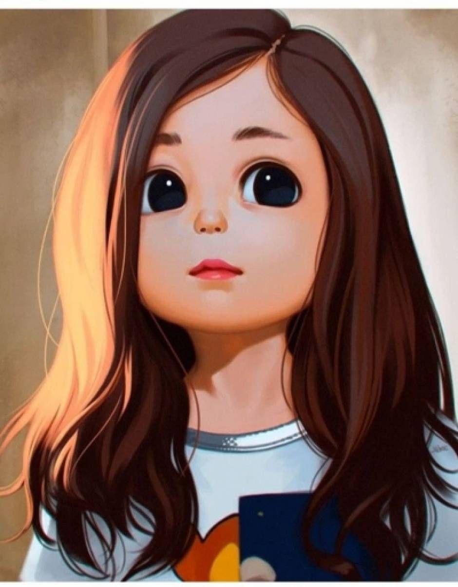Message Cute Cartoon Girl Girl Cartoon Characters Cute Cartoon Pictures