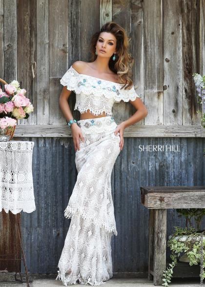 Cap Sleeved Sherri Hill Prom Dress 32230