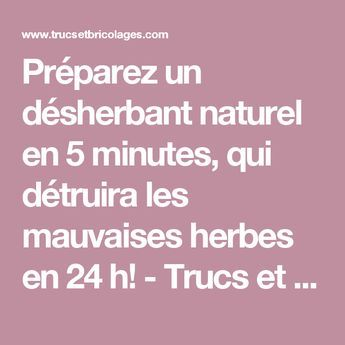pr parez un d sherbant naturel en 5 minutes qui d truira les mauvaises herbes en 24 h astuces. Black Bedroom Furniture Sets. Home Design Ideas