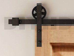 Amazon.com: DIYHD 8ft Industrial Wheel Sliding Barn Wood Door Interior Closet Door Kitchen Door Track Hardware: Home Improvement