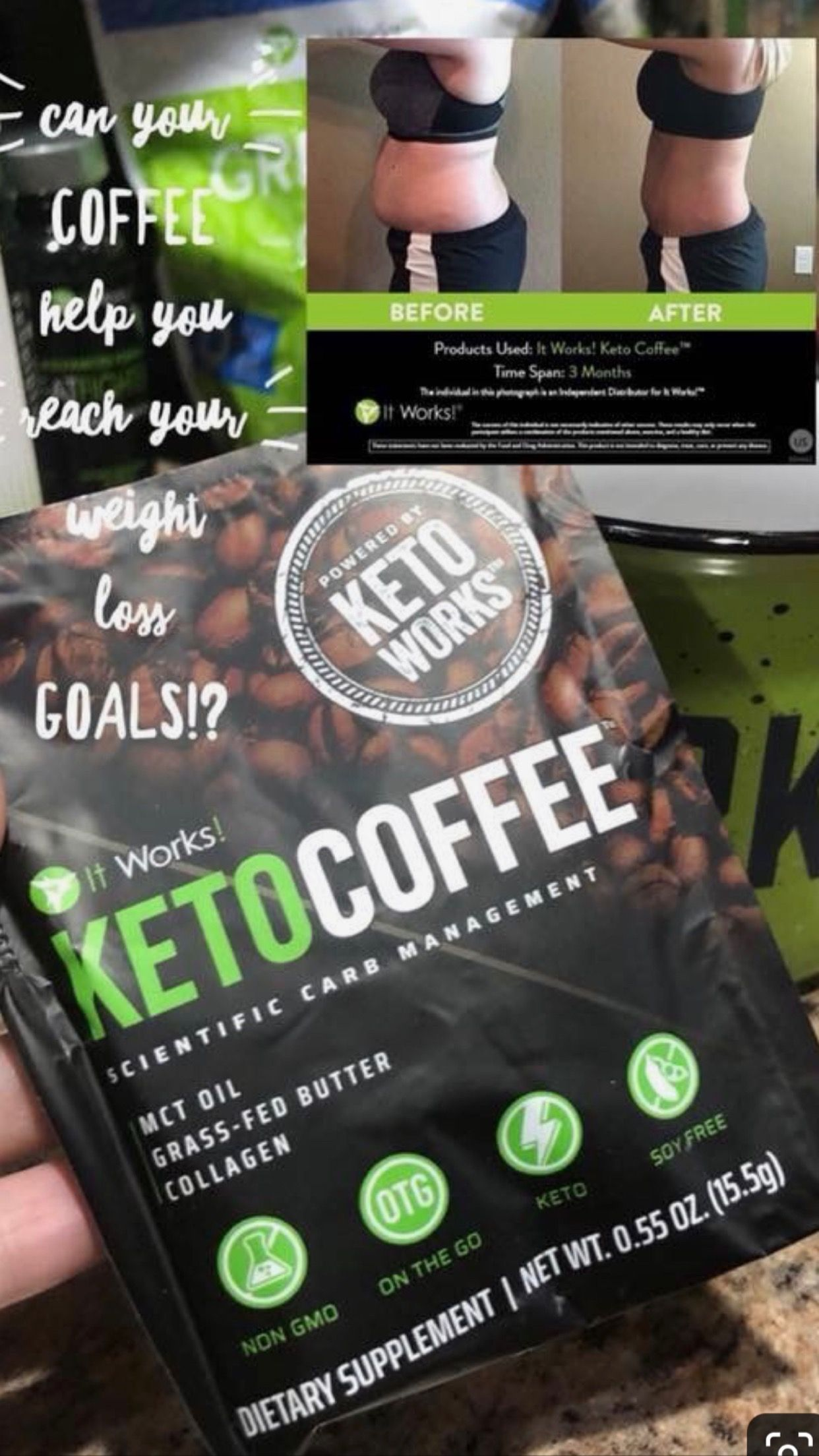 Love my Keto Coffee💚 keto ketocoffee It works products