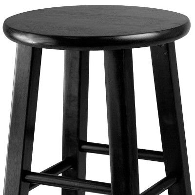 24 Pacey 2pc Bar Stool Set Black Winsome Bar Stools Stool Bar