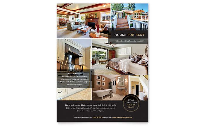 House For Rent Flyer Design Template By Stocklayouts  Design