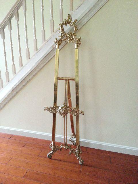 Brass Floor Easel ~ Ornate 55\