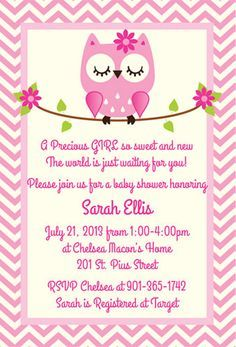 Owl Baby Shower Invitations tarjeta Pinterest Shower
