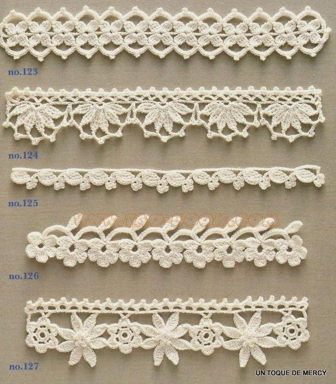 UN TOQUE DE MERCY: PUNTILLAS O BORDES DE CROCHET | Crochet - Lace ...