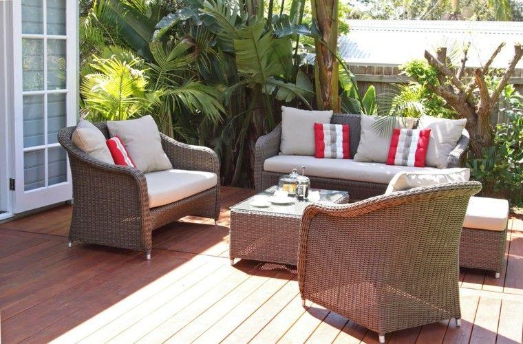 bonito diseño muebles jardin ratán | Muebles | Pinterest