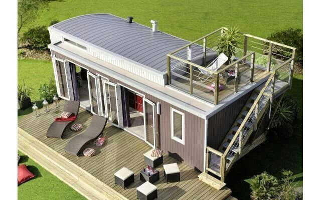 6 Eco Friendly Diy Homes Built For 20k Or Less: Roof Top Deck For Shipping Container Communal Building