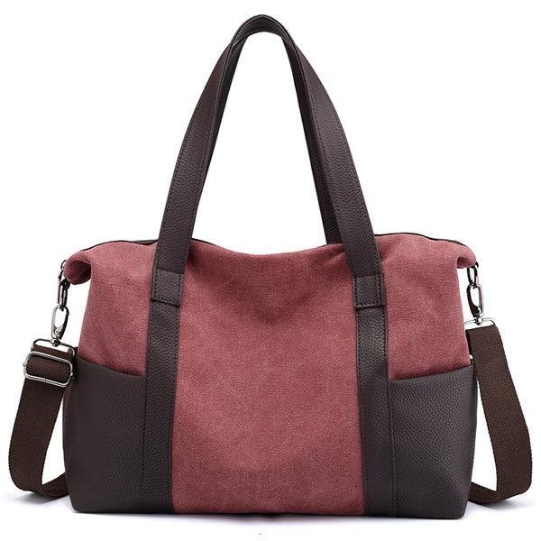 Women Canvas Durable Large Capacity Crossbody Bag