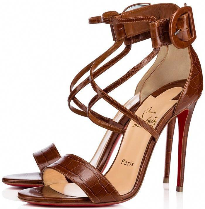 Christian Louboutin Choca Patent Red Sole Sandal #