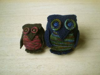 Knitted Little Owl - Free Pattern - PDF Download