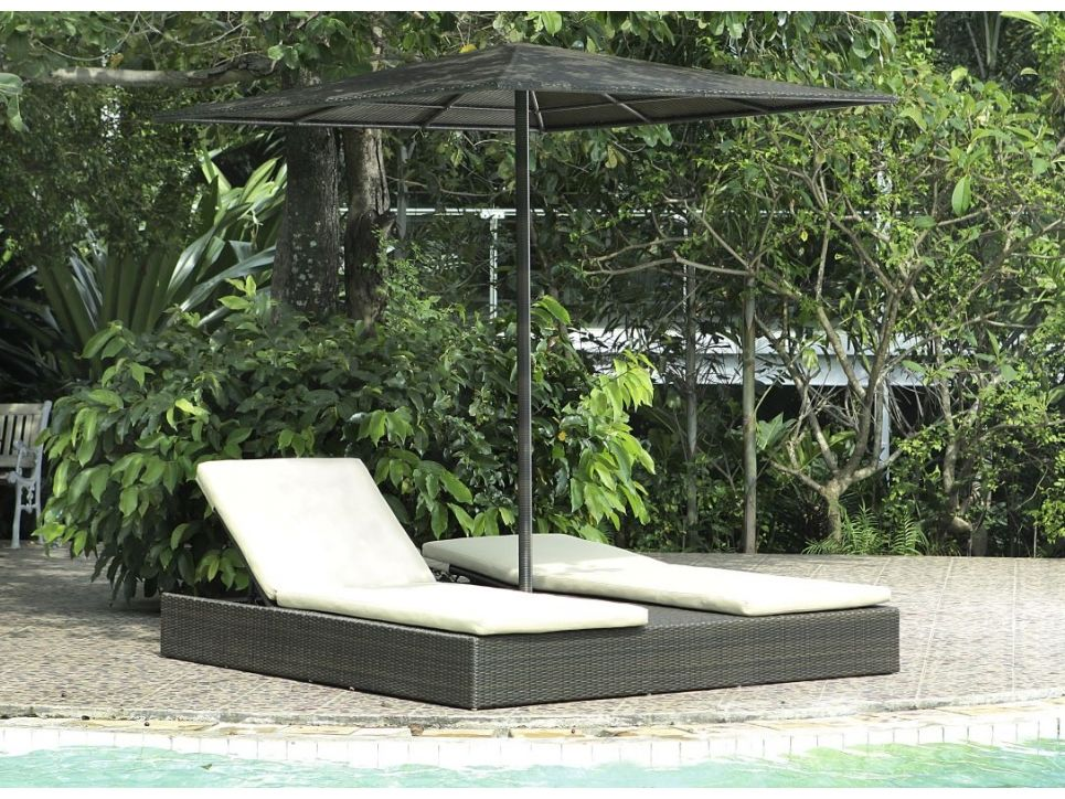 Doppel sonnenliege mit dach  Doppel-Sonnenliege mit Dach Macao | Terrassenliege | Pinterest ...