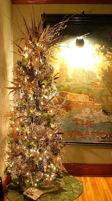12+ Gold feather christmas tree decorations ideas