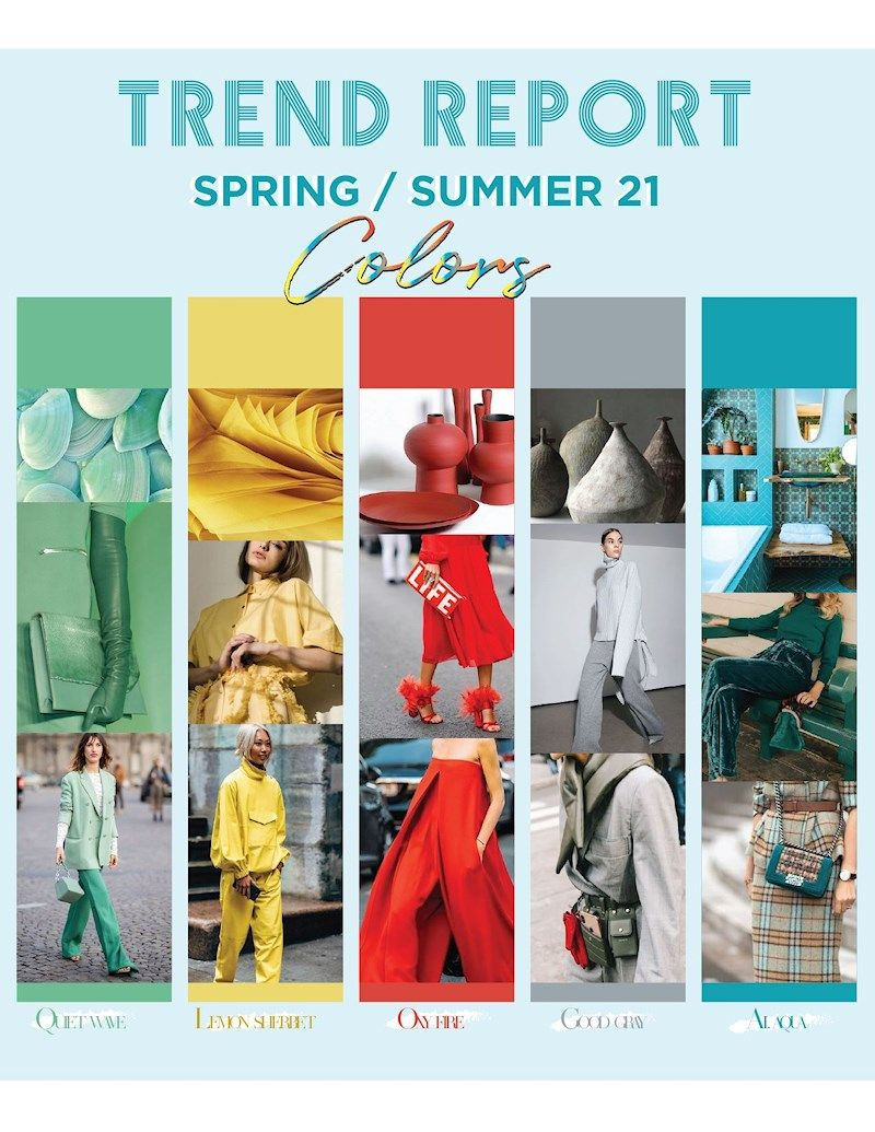 Spring Summer 2021 Trend Color Forecast By Milla Camargo Bettersunkissed In 2020 Color Trends Fashion Fashion Trend Forecast Color Forecasting