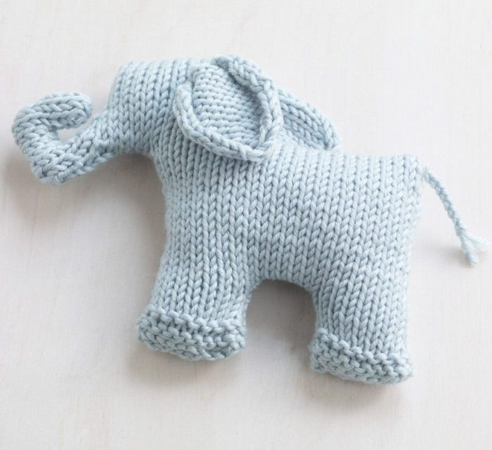 Free Knitting Pattern For Sweet Mini Elephant Oy Knit Flat And