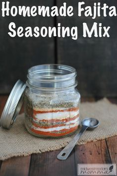 There is nothing easier to throw together than a quick batch of fajitas for dinner, and this Homemade Fajita Seasoning is a great way to save time and money.