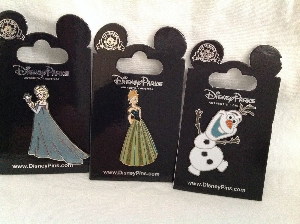 Disney Frozen Trading Pins Elsa, Anna & Olaf Collectibles