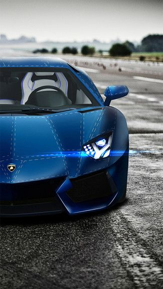 Custom Blue Lamborghini Iphone 5c 5s Wallpaper Blue Lamborghini Fast Sports Cars Super Luxury Cars