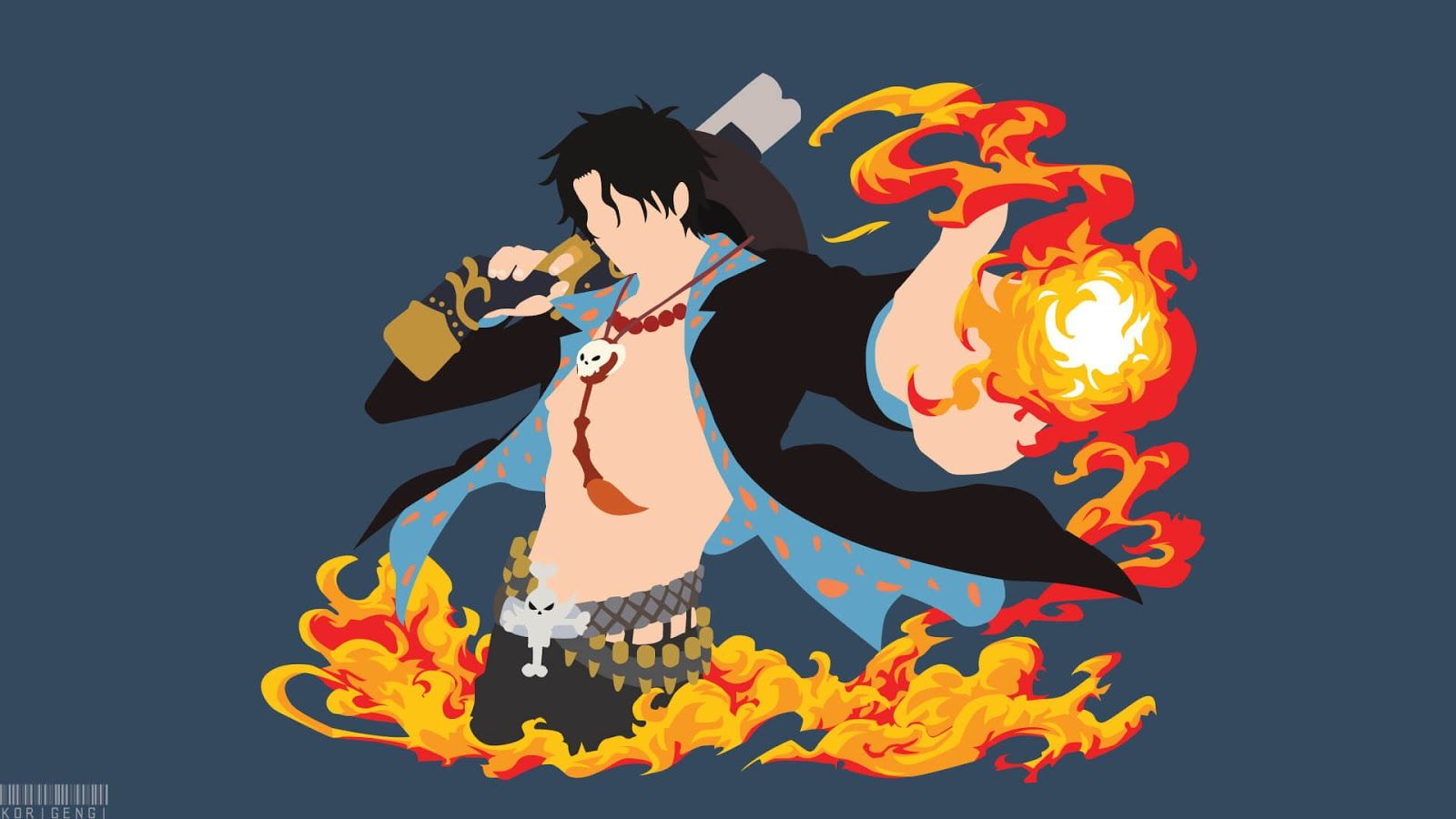 Turn gifs, videos, and other content into wallpapers. Pc Portgas D Ace Animasi Wallpaper Anime Gambar Anime