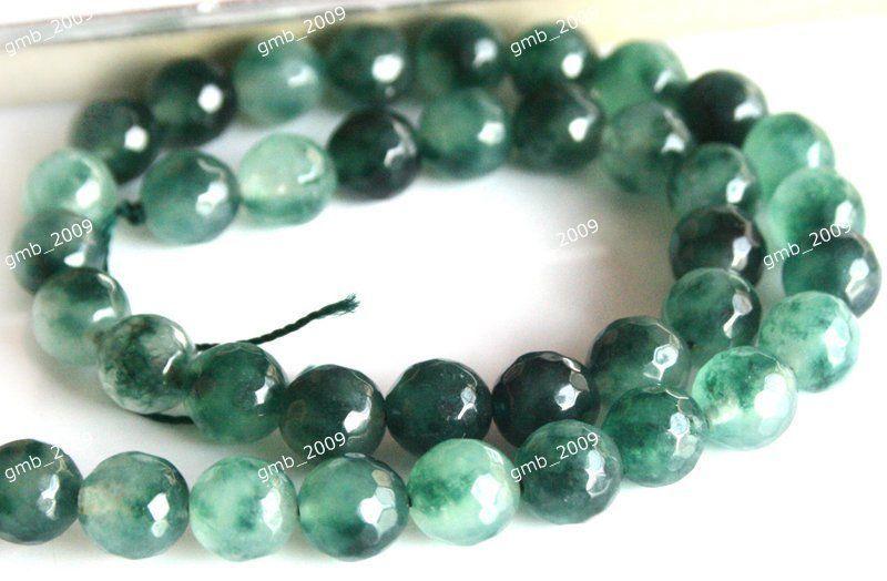 "NEW 4MM Dark green Emerald Faceted Round Gemstone Loose beads 15 /"""