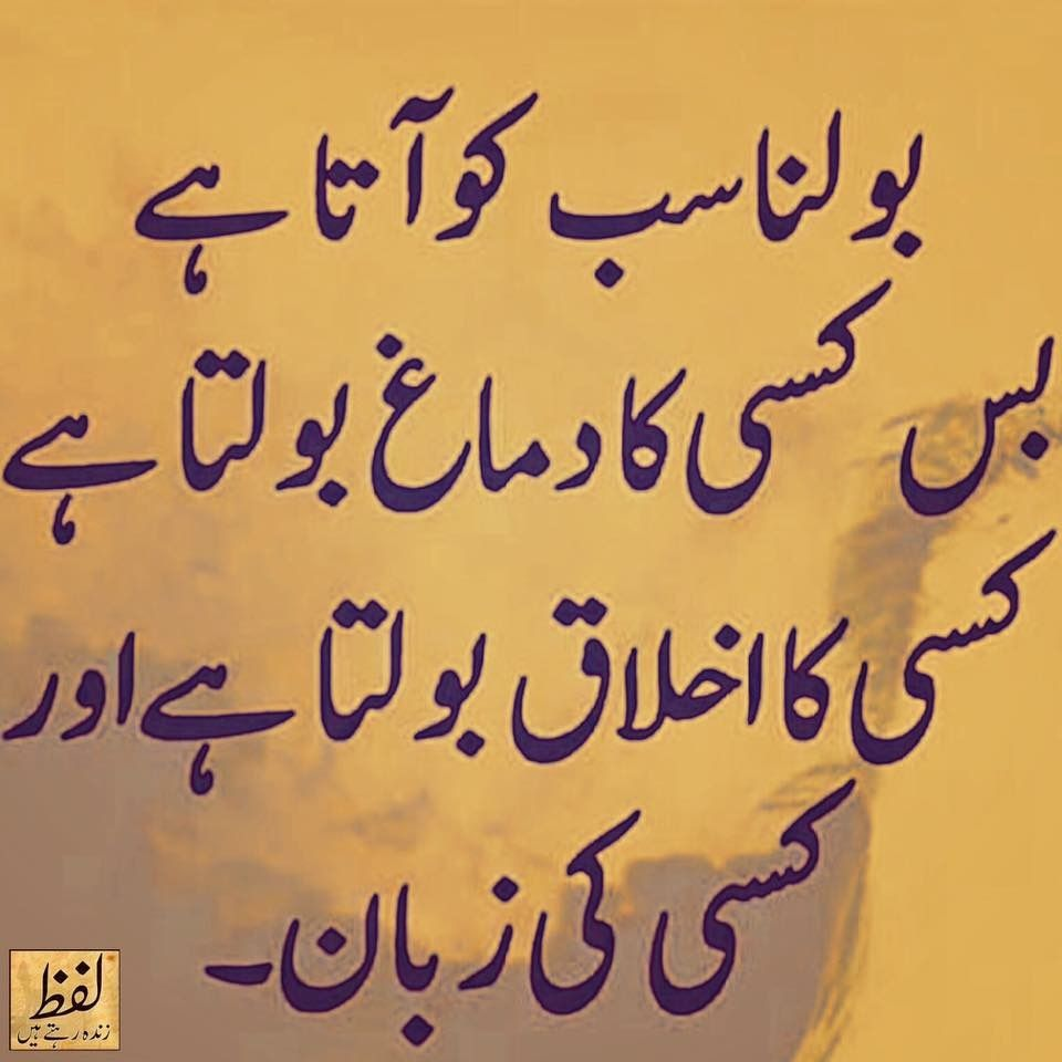 Pin by Saira Saeed on Aqal o daanish | Urdu quotes, Urdu words