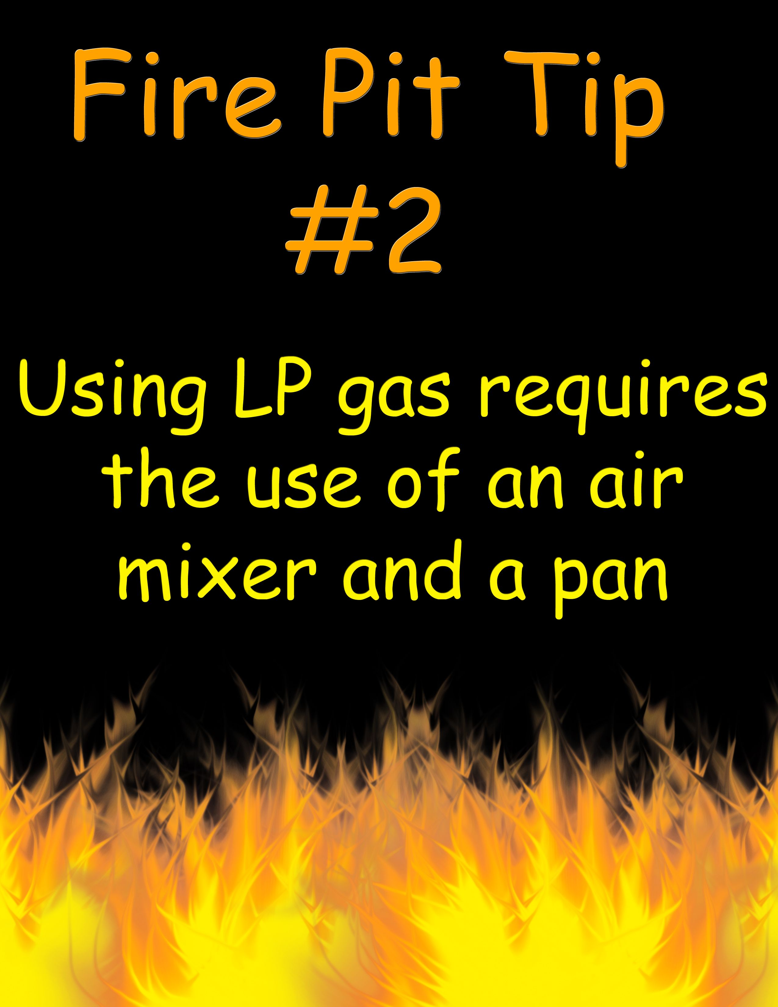use an air mixer with lp gas firepit gas fire pit installation