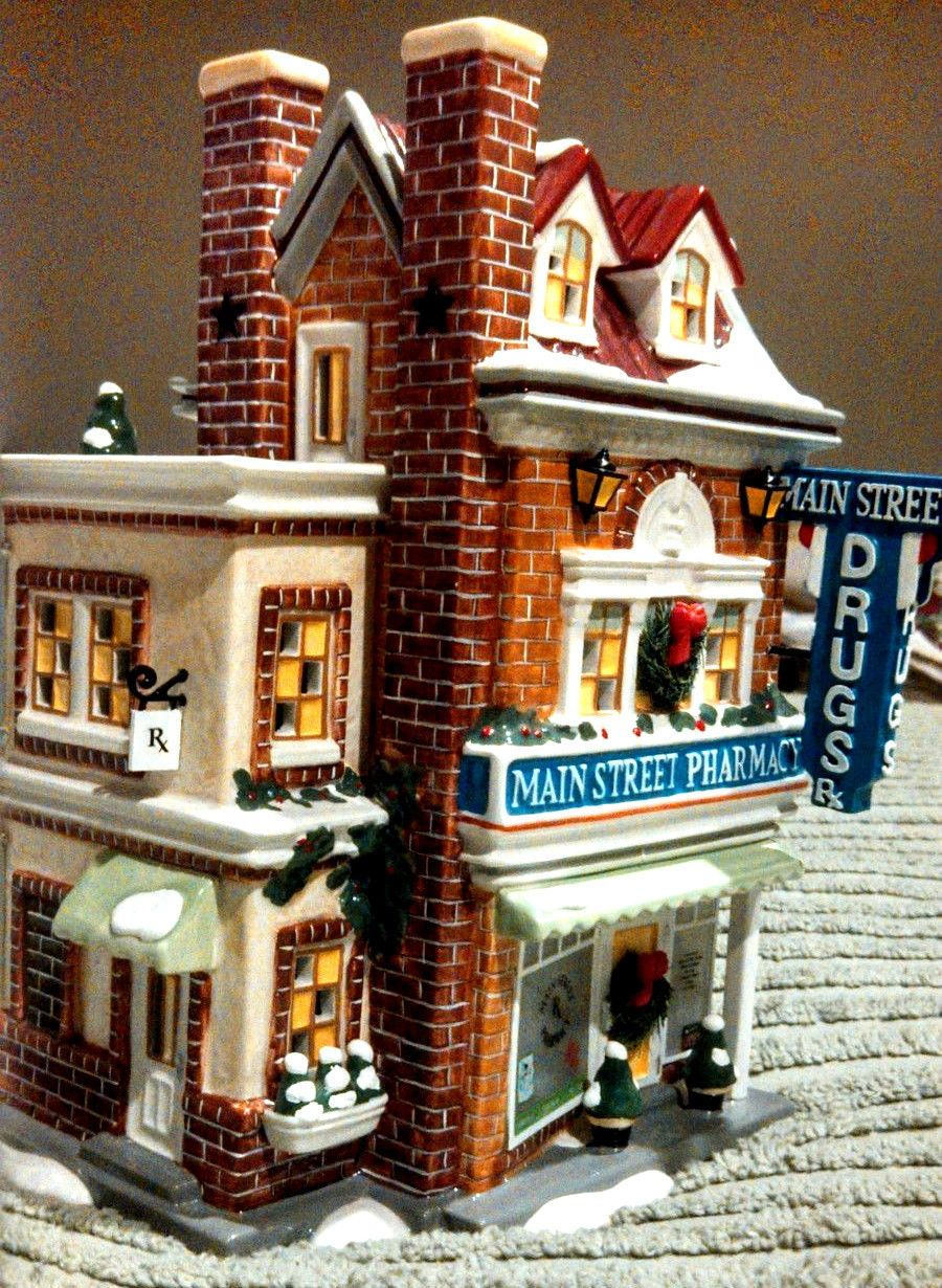 How To Store Christmas Village Houses.Details About Dept 56 Main Street Medical Snow Village Used