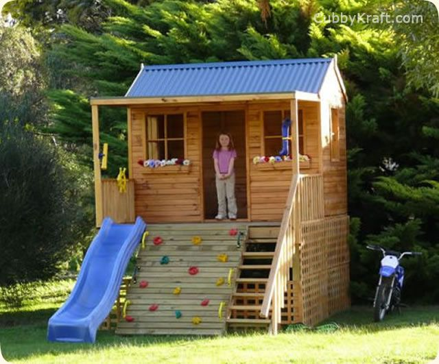 Pin By Anneke Rossouw On Boomhuise Kids Playhouse Plans Play Houses Wooden Playground