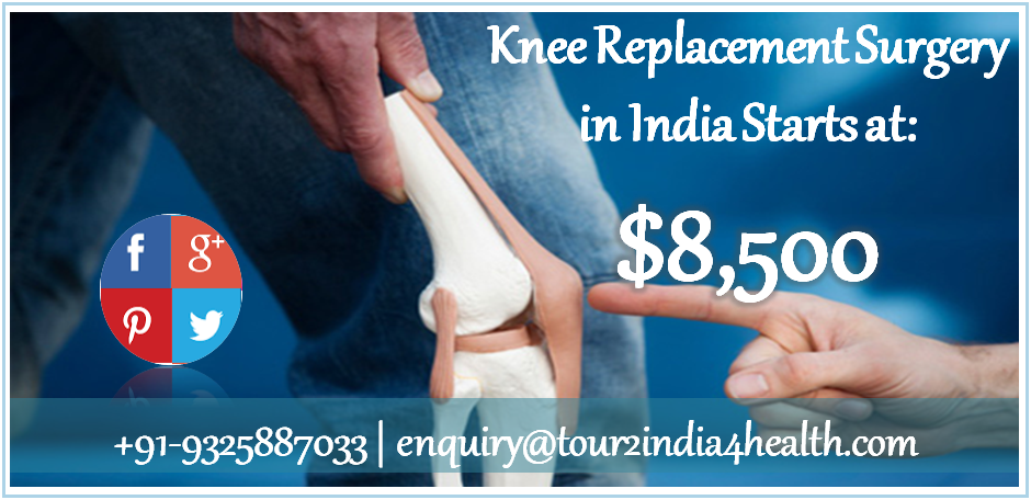 . Tour2India4Health provides affordable total knee replacement cost in India.