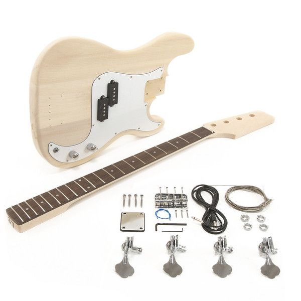 Try Building And Customising Your Very Own Bass Guitar Make It As Unique As You Like Guitar Guitar Kits Bass Guitar
