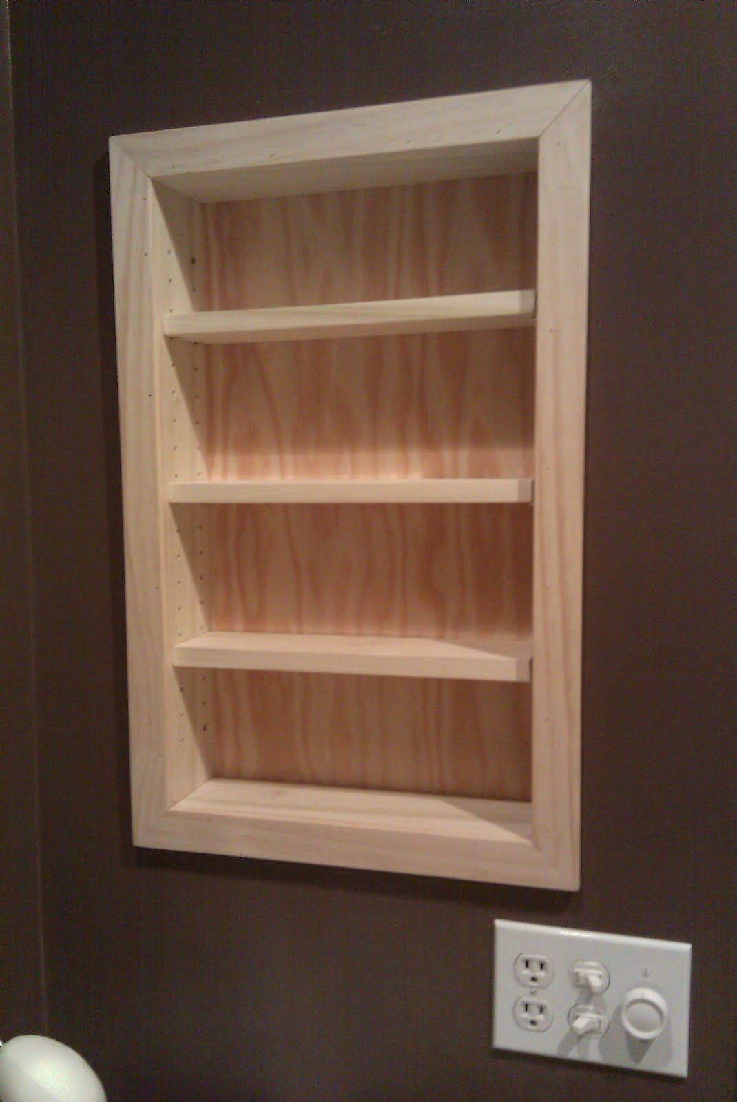 Superior This Client Removed Their Old Medicine Cabinet And Asked Me To Replace It  With Recessed Shelves