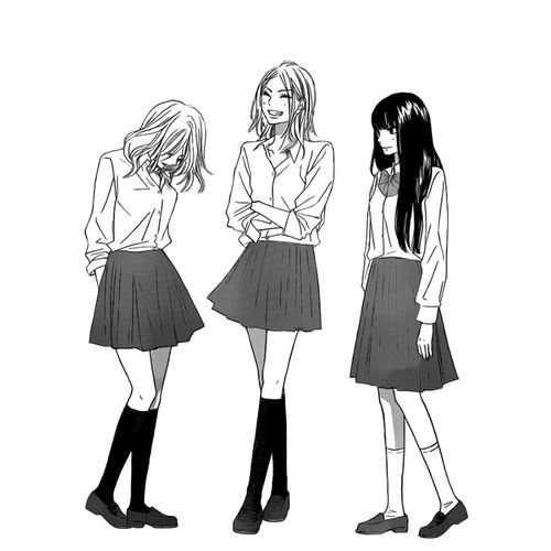 Anime Friendship And Black And White Image Kimi Ni Todoke Manga Girl Anime Friendship