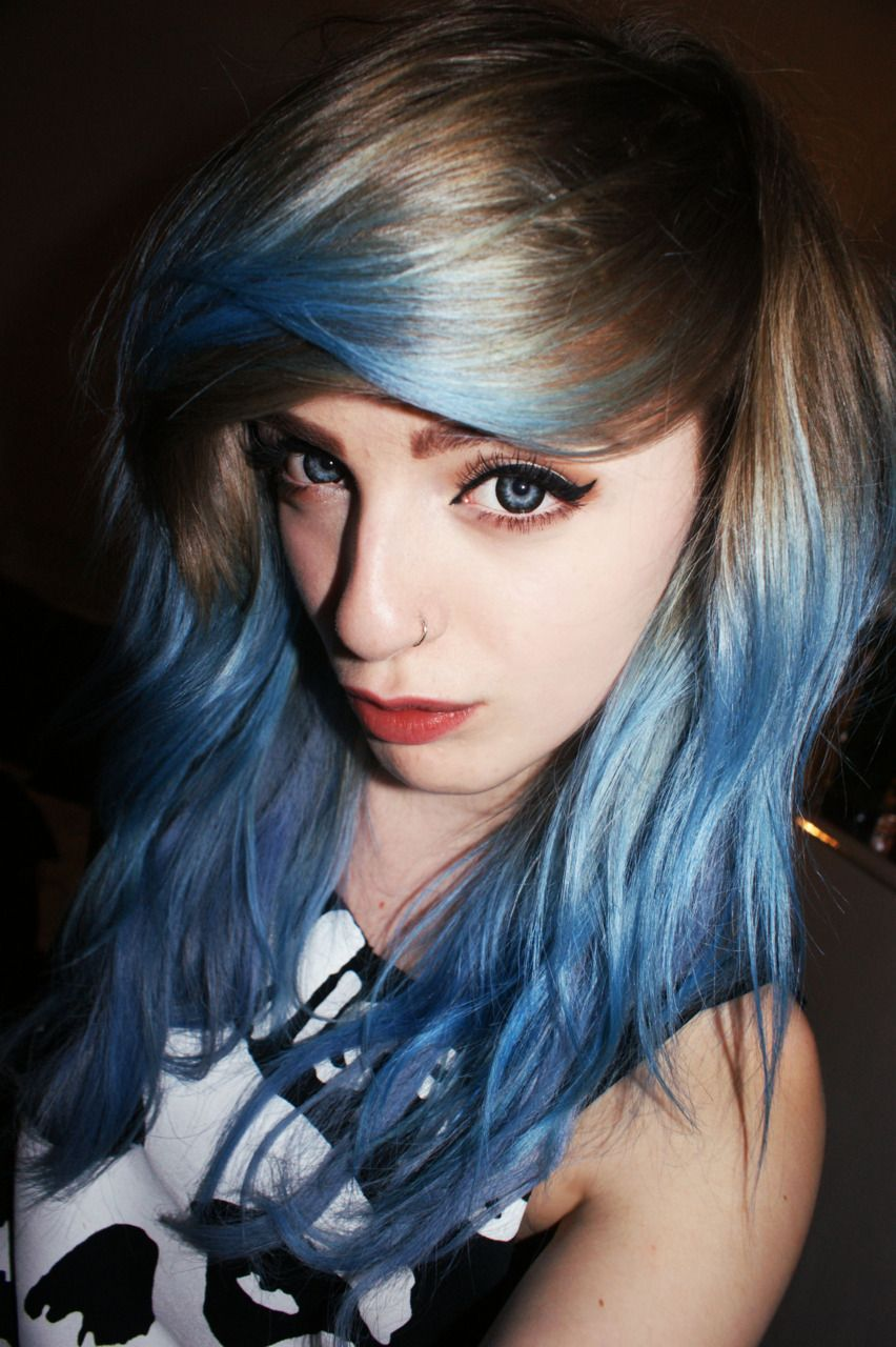 Brown and blue hair pinterest brown blondes and blue ombre