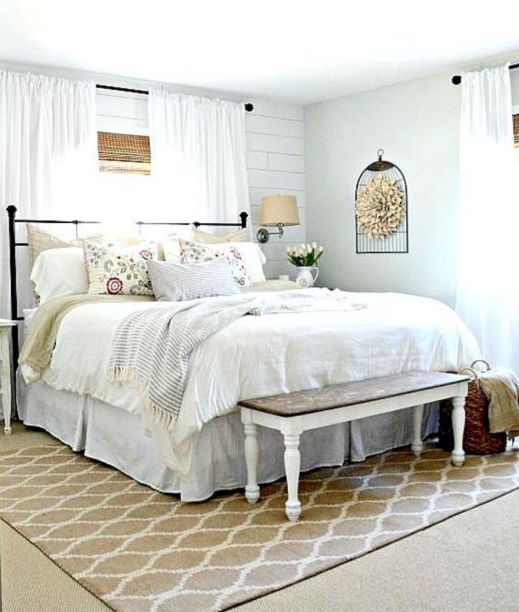 50 Modern Farmhouse Bedroom Decor Ideas Idee Arredamento Camera