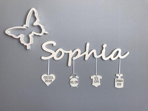 Name tag with birth data mama namensschilder for Namensschild kinderzimmer