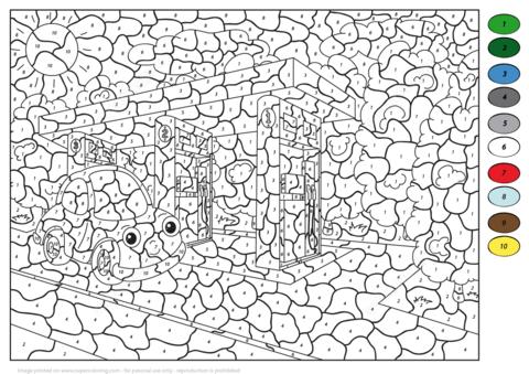 Car At Gas Station Color By Number Coloring Page Free Printable Coloring Pages Malen Nach Zahlen Malvorlagen Zum Ausdrucken Ausdrucken